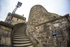 Around Edinburgh castle as viewed from Edinburgh Castle, Scotland stock photos