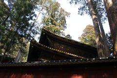 Around Futarasan Shrine and its toros lighting, in the complex. Of Toshogu Temple. Taken in Nikko, February 2018 stock photos