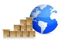 Around the globe transportation concept Stock Photography