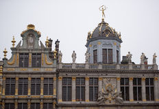 Around the Grand Place are located former guild house. Each of Stock Image