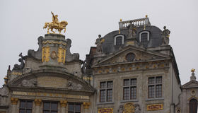 Around the Grand Place are located former guild house. Each of Royalty Free Stock Photos