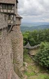 Around Haut-Koenigsbourg Castle in France royalty free stock photo