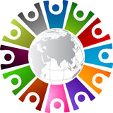 Around human logo Royalty Free Stock Photography