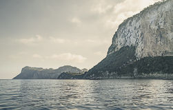 Around the Island of Capri in a trip with boat. Royalty Free Stock Photography