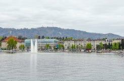 Around Lake Zurich. Riparian scenery around Lake Zurich in Switzerland Royalty Free Stock Photos