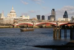 Around London. Thames River in London stock photo