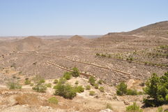 Around Matmata, desert hills. Stock Image