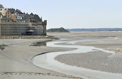 Around Mont Saint Michel Abbey Royalty Free Stock Photography
