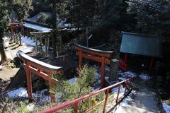 around `Onechi shrine` at Mt. Onechi in Iizuka, stock image