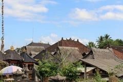 Around Penglipuran village, one iconic traditional neighborhood. Full of coconut leaves janur. Taken in Bali, July 2018 stock images