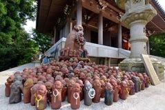 Around Reikado Hall, Mount Misen trail on Miyajima Japan. Stock Photos