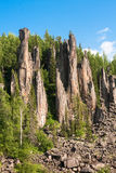Around only rocks. Beautiful Siberian rivers. Stock Images