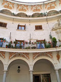 Around Seville, Andalusia. Beautifull balcony in Seville, Spain Royalty Free Stock Image