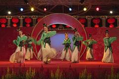 Around the show. Chinese dance, there are a lot of performance in the Chinese New Year Royalty Free Stock Photography