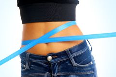 Around slim beautiful waist Royalty Free Stock Image