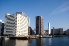 Around Sumida River, Tokyo, Japan Royalty Free Stock Images