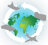 Around The World.cdr Royalty Free Stock Photography