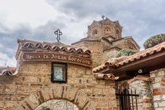 Church around town in Ohrid, Macedonia royalty free stock images