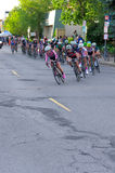 Around Turn at Womens Uptown Criterium Royalty Free Stock Photography
