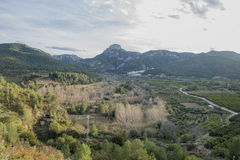 Around the village of Toga in Castellon Royalty Free Stock Images