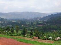 Around Virunga Mountains in Africa. Panoramic view around the Virunga Mountains in Uganda (Africa Stock Images