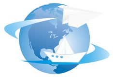 Around the world Royalty Free Stock Photography