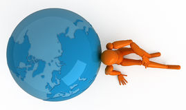 Around the world. Rest after travel. Abstract illustration Stock Photos