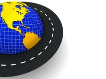 Around the world background Stock Image