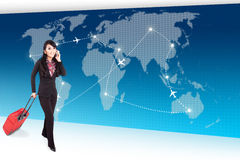 Around the World Business Trip Stock Photo