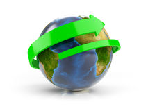 Around The World (Elements of this image furnished by NASA) Royalty Free Stock Photo