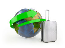 Around The World (Elements of this image furnished by NASA) Royalty Free Stock Image