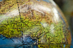 A shiny globe in an antique store of the world. A globe of the world - an antique Stock Photos