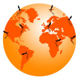 Around the world Royalty Free Stock Images