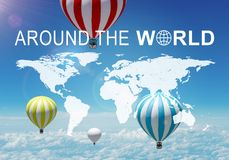 Around The World header Royalty Free Stock Image
