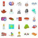 Around the world icons set, cartoon style. Around the world icons set. Cartoon set of 25 around the world vector icons for web isolated on white background Royalty Free Stock Photography