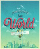 Around the world poster. Royalty Free Stock Photography