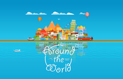 Around the world travelling concept. Asia cityscape Royalty Free Stock Image