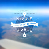 Around the world - type design Stock Images
