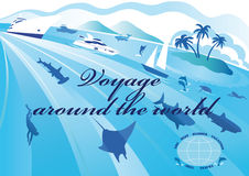 Around the world voyage Royalty Free Stock Photography
