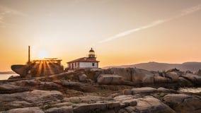 Arousa海岛的风景在加利西亚 免版税图库摄影