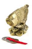 Arowana ein Symbol des Reichtums und des Wohlstandes Stockbild