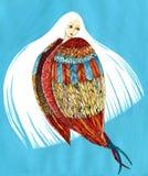 Arpía con el pelo blanco - criatura mitológica Imagen de archivo