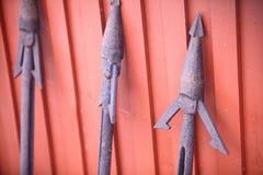 Arpões oxidados Imagem de Stock