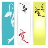 Arp koi banners Stock Images