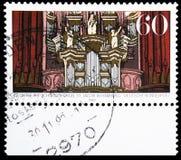 Arp-Schniter órgano, 300o aniversario del órgano del Arp Schnitger, serie de Hamburgo, circa 1989 fotografía de archivo