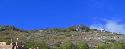 Arpa de Aeolus en la montaña de Mashuk Señales y Monumen de Pyatigorsk Imagen de archivo libre de regalías