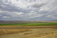 Arpacay Akhourian  resrvoir in the border of Turkey and Armeni Royalty Free Stock Image