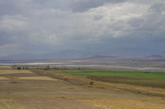 Arpacay & x28 Akhourian & x29  resrvoir στα σύνορα της Τουρκίας και Armeni Στοκ εικόνα με δικαίωμα ελεύθερης χρήσης
