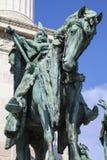 Arpad Statue στη βάση της τετραγωνικής στήλης ηρώων στη Βουδαπέστη Στοκ φωτογραφία με δικαίωμα ελεύθερης χρήσης
