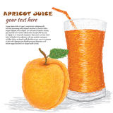 Arpicot juice Royalty Free Stock Photography